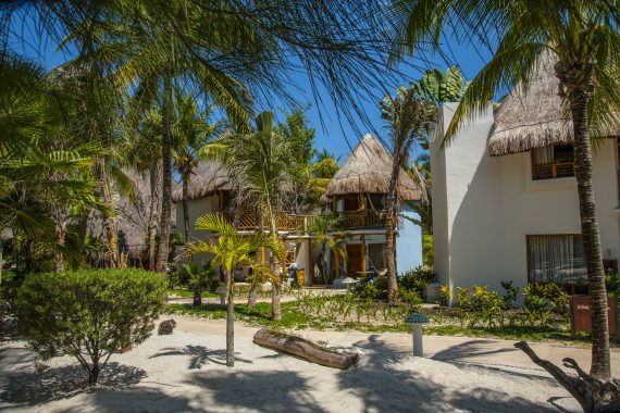 Beige Cabana is an Ocean View Downstairs and an Ocean View Palapa Upstairs