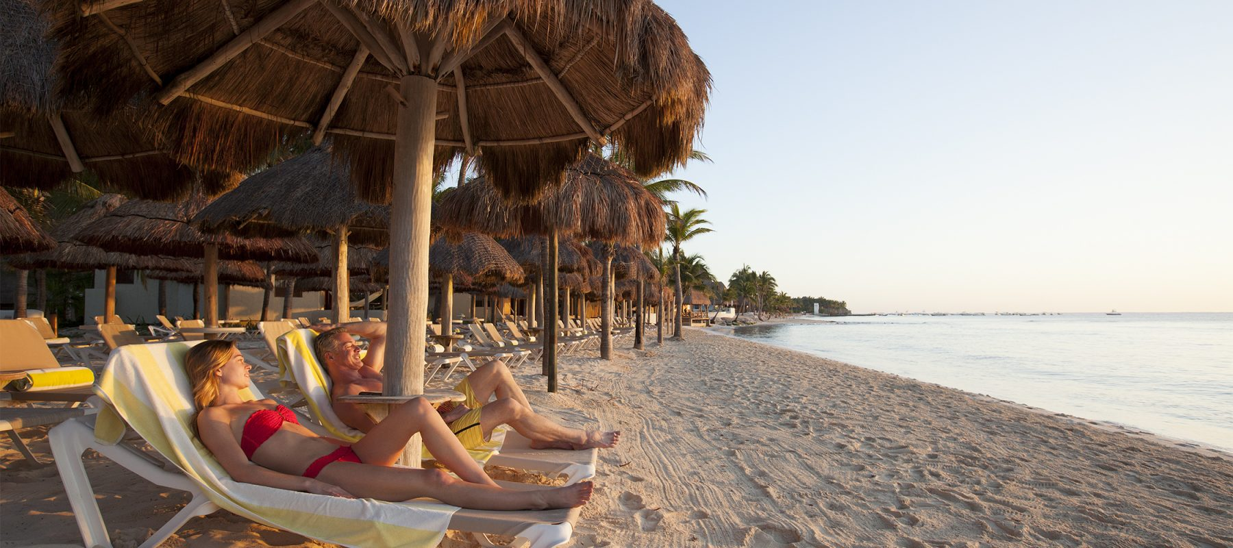 Sunbathe along Playa del Carmen's largest stretch of beach at Mahekal Beach Resort