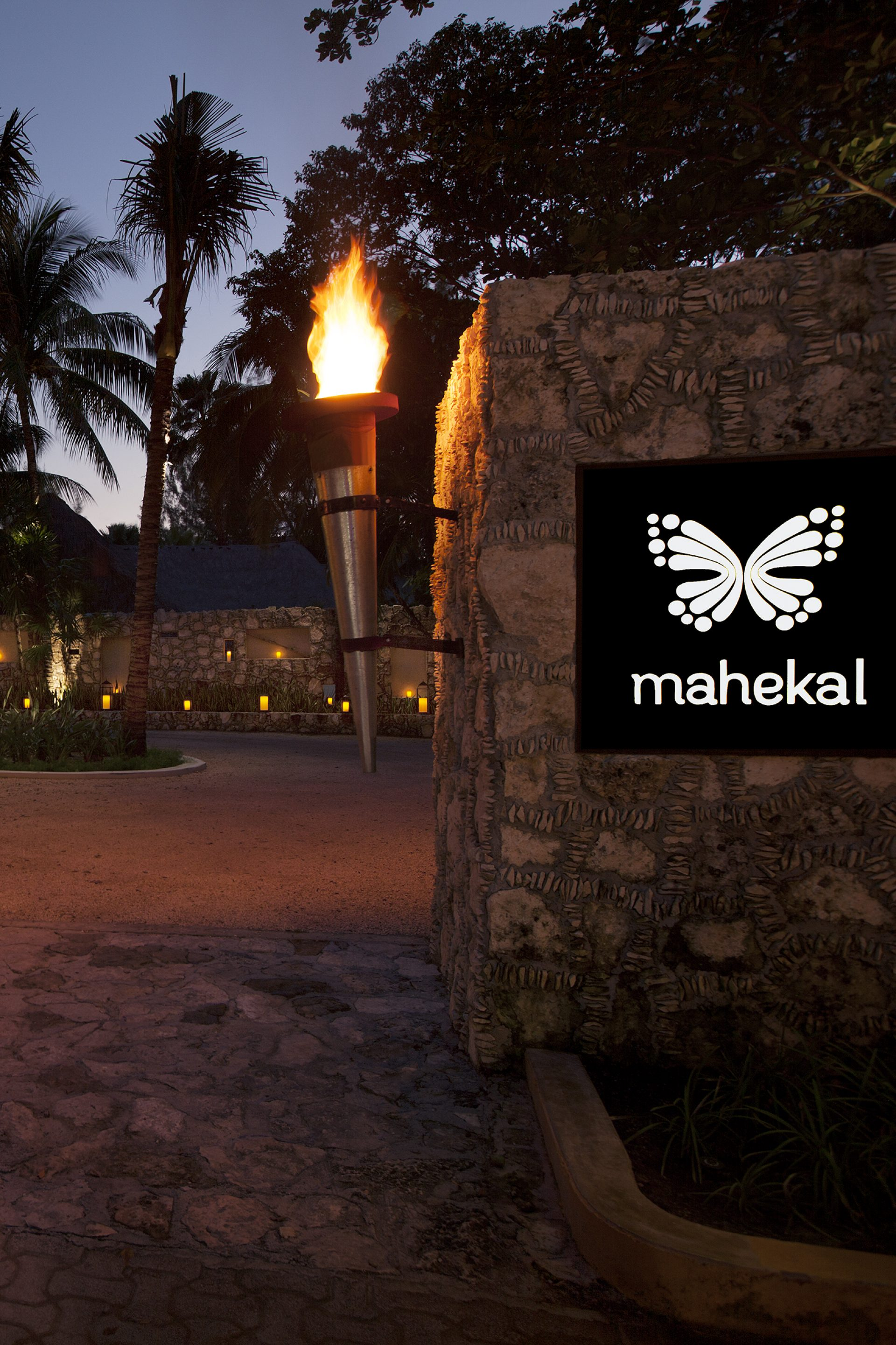 The Magic Butterfly is the entrance to Mahekal Beach Resort