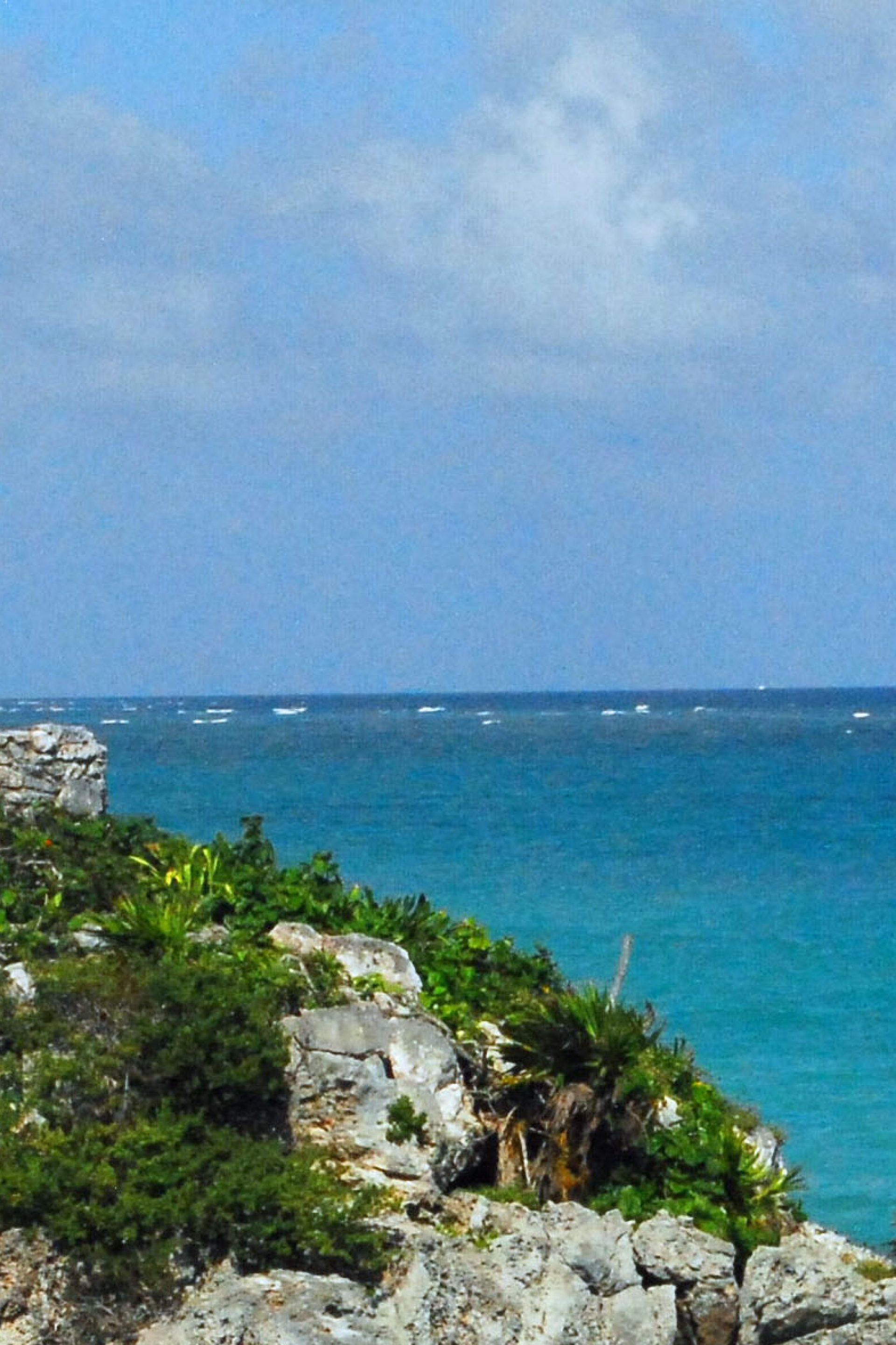 Templo Dios del Viento guarding Tulum sea entrance