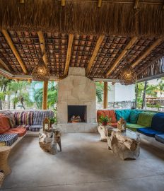 Fireplace Lounge at Mahekal Beach Resort