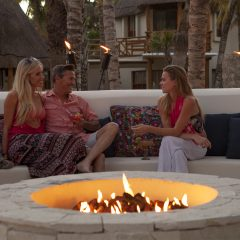 Enjoy a fireside cocktail during Firepit Fridays at Mahekal Beach Resort