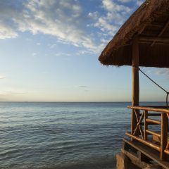 Ocean Views from private palapa terraces at Mahekal Beach Resort