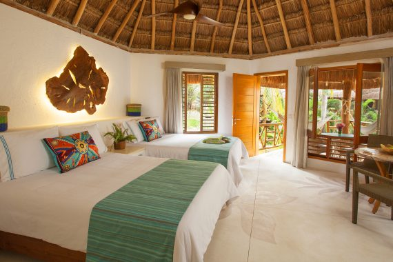Spacious Jungle View Palapa Guest Room at Mahekal Beach Resort