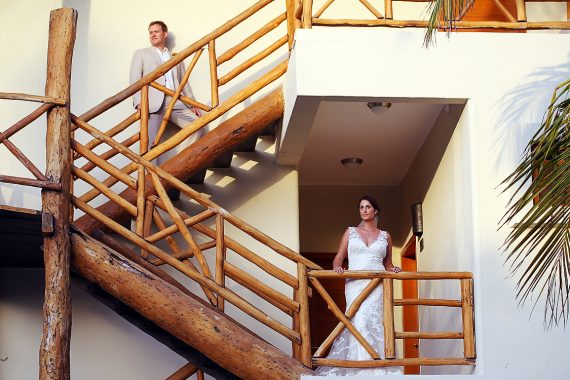 Tim and Miriam on the steps of one of our Penthouse Buildings