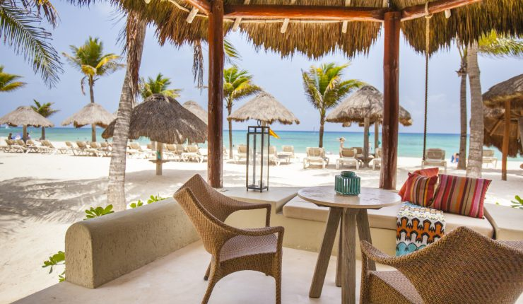 Expierance Paradise on private Oceanfront terrace at Mahekal Beach Resort